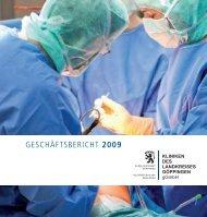 Download Geschäftsbericht 2009 - Helfenstein-Klinik Geislingen