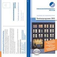 Seminarprogramm 2012 - Kreishandwerkerschaft Bochum