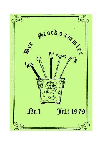 DER STOCKSAMMLER Nr. 1 Juli 1979.qxp