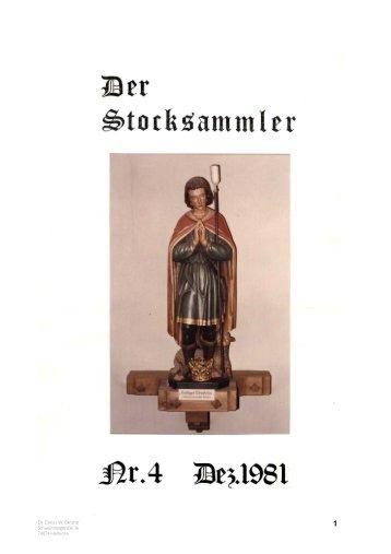 DER STOCKSAMMLER Nr. 04 Dezember 1981, reprint 2006.qxp