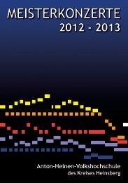 Erkelenzer Meisterkonzerte - VHS Kreis Heinsberg