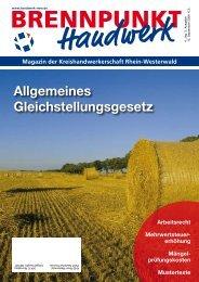 Allgemeines Gleichstellungsgesetz - Kreishandwerkerschaft Rhein ...