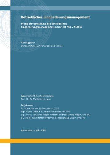 Betriebliches Eingliederungsmanagement - Bundesministerium für ...