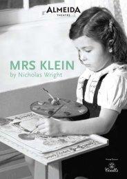 MRS KLEIN - Almeida Theatre