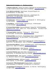 Adressen Bezirksausschuss