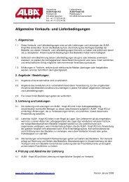 allg. Verkaufs- und Lieferbedingungen - Alba Krapf AG