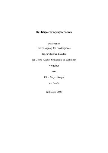 Das Klageerzwingungsverfahren - eDiss - Georg-August-Universität ...