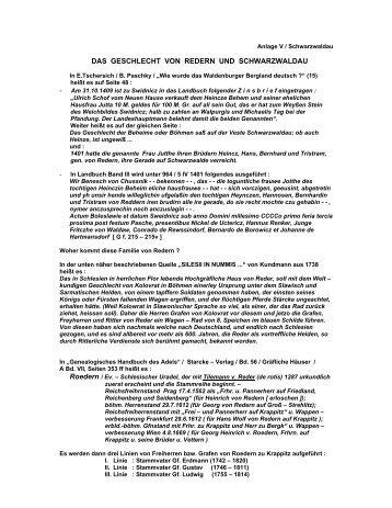 das geschlecht von redern und schwarzwaldau - Böhm-Chronik