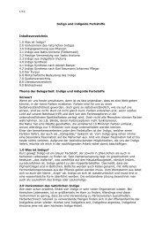 Indigo und indigoide Farbstoffe Inhaltsverzeichnis 1.0 ... - Alles-sauber