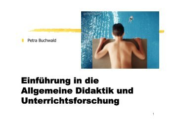 Didaktische Analyse - Dr. Petra Buchwald