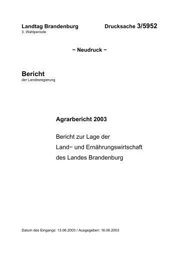 Bericht - Brandenburg.de