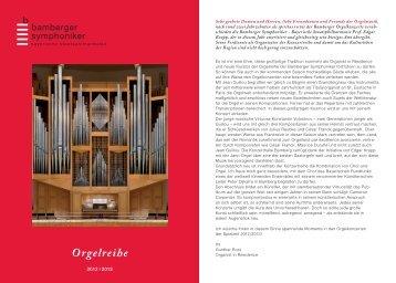 Orgelreihe - Bamberger Symphoniker Blog