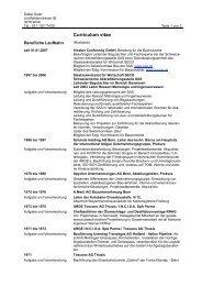 PDF > Detailansicht Curriculum Vitae - conformity gmbh – Linkliste