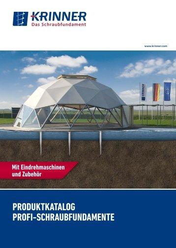 produktkatalog profi-SchraubfundaMEntE - Krinner - Das ...
