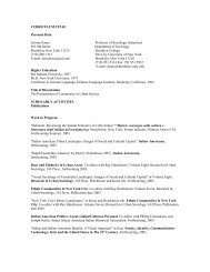 CURRICULUM VITAE Personal Data Jerome Krase ... - CUNY