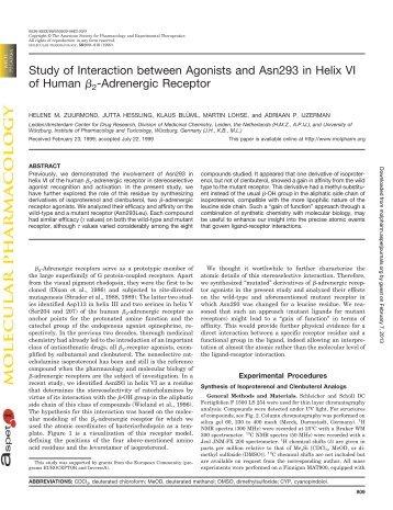 Adrenergic Receptor - Molecular Pharmacology