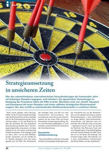 Strategieumsetzung in unsicheren Zeiten - Consultingworld AG