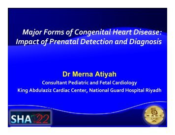 Major Forms of Congenital Heart Disease - Sha-conferences.com