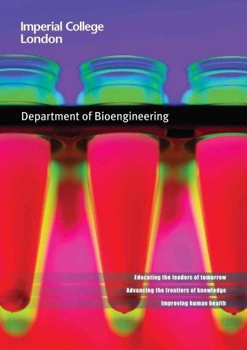 Department of Bioengineering - Workspace - Imperial College London