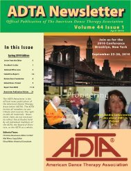 Weekly Magazine - American Dance Therapy Association