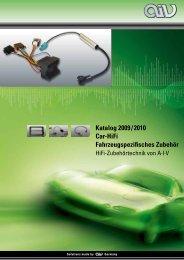 Katalog 2009 / 2010 Car-HiFi Fahrzeugspezifisches Zubehör