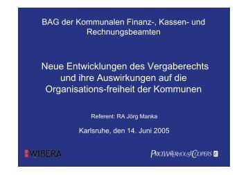 Reform des deutschen Vergaberechts