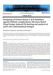 Designing of Protein Kinase C β-II Inhibitors against ... - Bioinformation