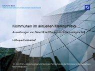 Kommunen im aktuellen Marktumfeld - Fachverband der Kämmerer ...