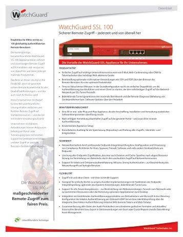 Watchguard SSL 100 Datenblatt - Computer Trade Scheuss & Co ...