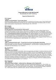 Veranstaltungen im dhu-Nachbartreff