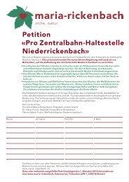 petition-haltestelle - Mountain Wilderness