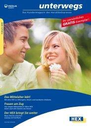 Frühjahrsausgabe HEX-Kundenmagazin - HarzElbeExpress