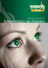 Download Dokumentation der Finalisten (PDF, 17 ... - TASPO Awards
