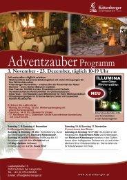 3. November - 23. Dezember, täglich 10-19 Uhr - Kittenberger