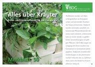 über Kräuter - Bundesverband Deutscher Gartenfreunde e. V.