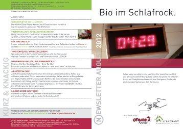 AUGUSt 2012 - Organix Biomarkt GmbH