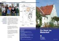 ZUK-Gästebüro a - Zentrum für Umwelt und Kultur Benediktbeuern