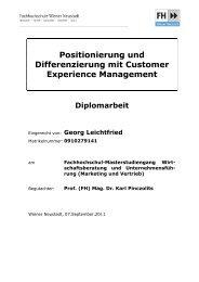 Positionierung und Differenzierung mit Customer Experience ...