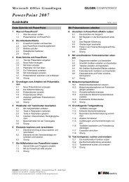 Powerpoint 2007 Grundlagen - Gilgen Computence