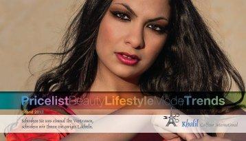 PricelistBeautyLifestyleModeTrends - Khalil Coiffeur International