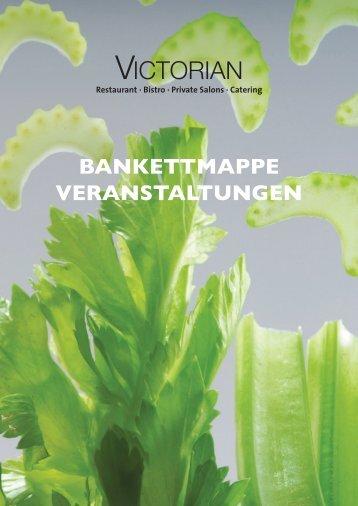 Bankettmappe - Restaurant Victorian
