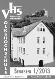 SEMESTER 1/2013 - Vhs Schriesheim