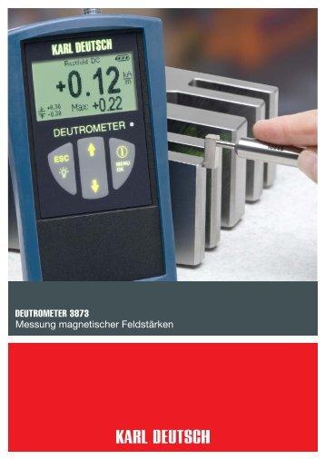 DEUTROMETER 3873 Messung magnetischer ... - Karl Deutsch
