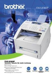 FAX-8360P Vereinte Talente für mehr Leistung - Brother