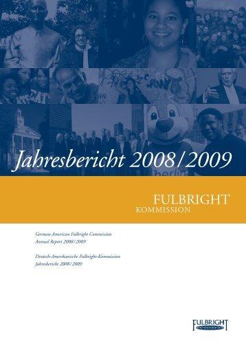 Jahresbericht 2008 / 2009 - Fulbright-Kommission