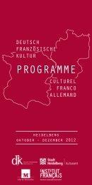 PROGRAMME - Deutsch-Französischer Kulturkreis eV (dfk)