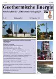 Geothermische Energie - Geothermie