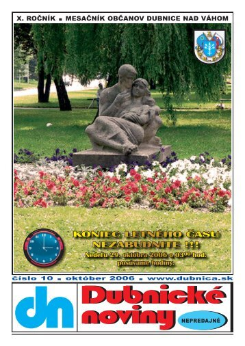 dubnické noviny č. 10 - október 2006 - Dubnica nad Váhom