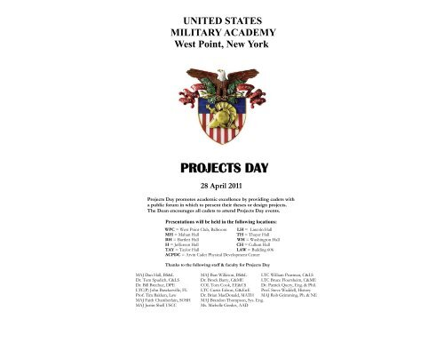 PROJECTS DAY - West Point
