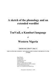 Tsuvadi wordlist composite.pdf - Roger Blench